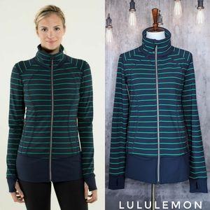 Lululemon Nice Asana Jacket, Slalom Stripe/Inkwell